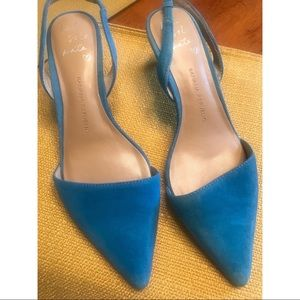 Banana republic blue suede sling back heel size 7